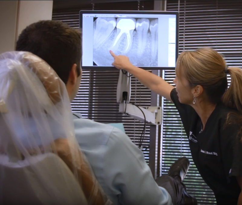 Dr. Susan Wood with Endodontic Patient